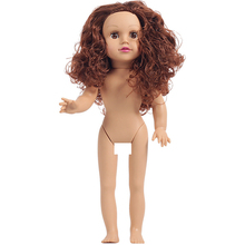 45cm Alive Girl Baby Reborn Soft Vinyl Bebe Dolls Toys with Brown Eyes Curly Hair