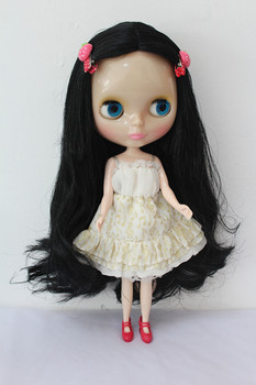 Blygirl Blyth doll transparent skin black hair nude doll ordinary body 7 with joint replacement joints can body