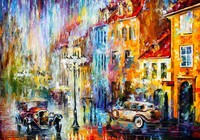 Hot Sale About A Busy Street Oil Painting Cuadros Wall Painting Paint On Canvas Prints Home
