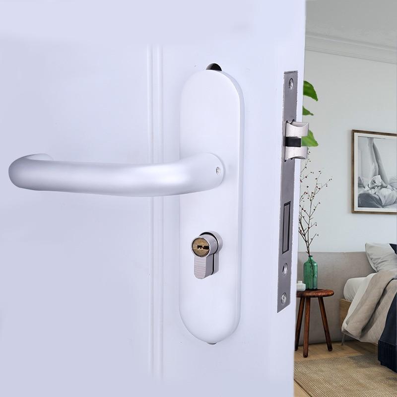лучшая цена 2018 Free Shipping Wholesale Contracted Yabai Mute Bedroom Space Aluminum Hand Lock High-grade Door Hardware Wholesale. 774-85