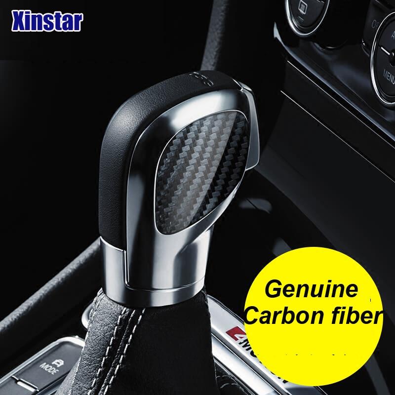 2 pcs lote real de fibra carbono botao da engrenagem do carro decoracao adesivo para vk