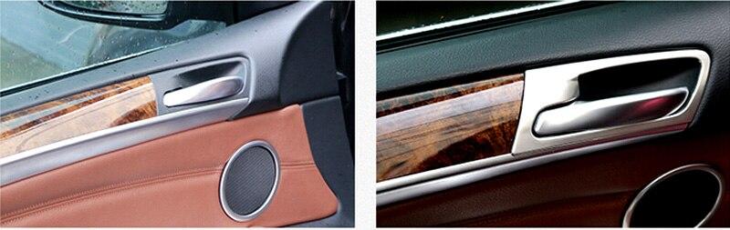 Poignée de porte intérieure couvercle de bol décoration garniture pour BMW X5 E70 2008 09 10 11 12 13 accessoires de voiture style de voiture