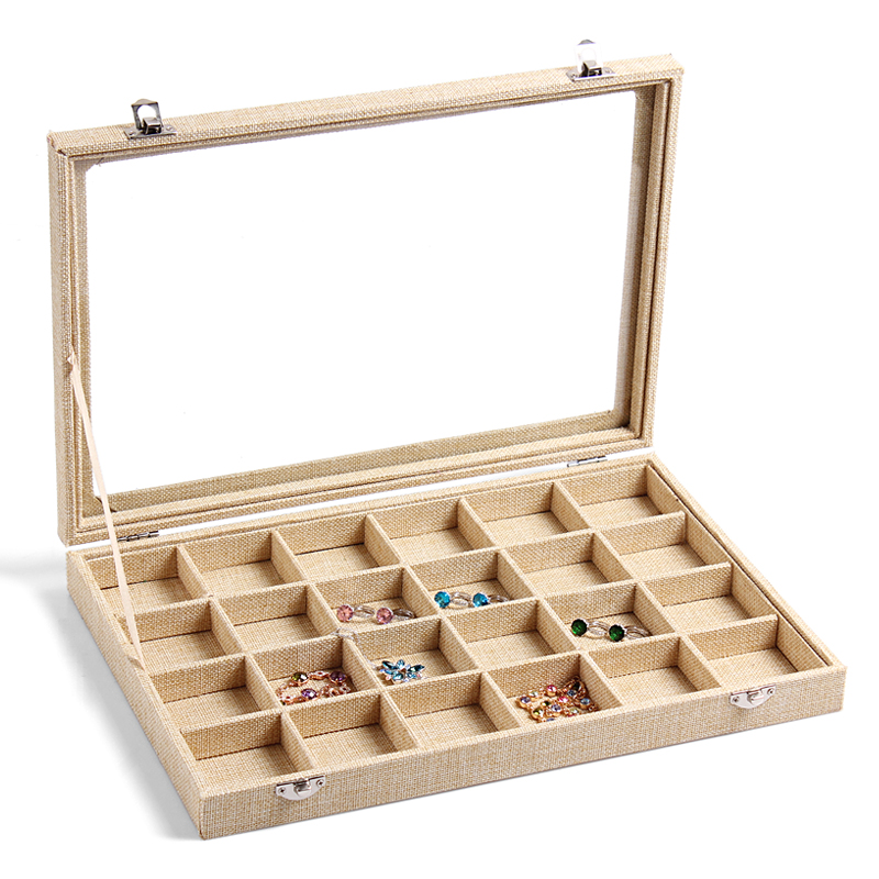 2017 New Arrival Wred Jute Burlap Jewelry Box Rings Case Watch Bracelet Gift Earring Necklace Holder Bangle Organizer In Packaging