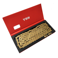 YBN 11 Speed Chain Gold MTB Road Bike Chain for Shimano Sram Campagnolo