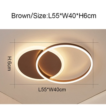 Remote Controller 2/3/5/6 Circle Rings Modern led Chandelier For living Room Bedroom Study Room White/Brown Color Chandelier 10