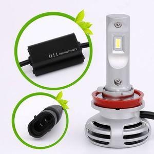 Image 4 - 2Pcs W50 H11 LED Auto Headlight H1 h4 H7 9005 9006 9012ultra bright headlamps fog lamp refitted distant light 6000K Auto lamp