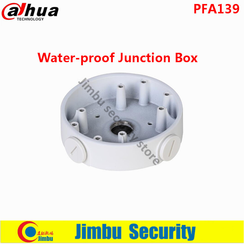 DAHUA Water-proof Junction Box PFA139 IP Camera HDCVI dome camera Brackets CCTV Accessories  aluminum size 108x28.5mm dahua pfa130 water proof junction box cctv accessories ip camera brackets pfa130