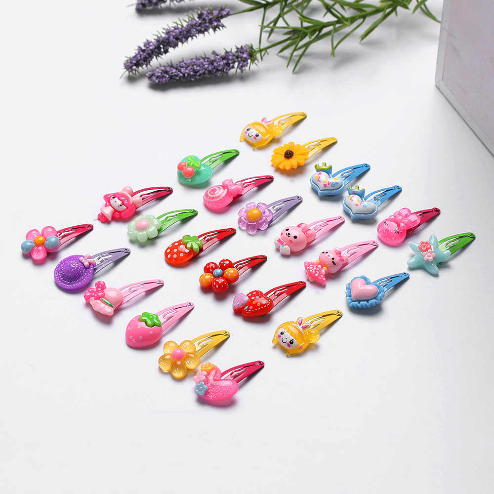 10/20Pcs Mix Color Styles Flower Cartoon Assorted Lovely Kids Girls Hair Pin Clips Barrettes Hair Accessories Jewelry