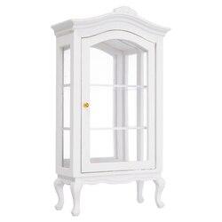 8,2x4x19,2 см 1:12 кукольный домик миниатюрная деревянная мебель шкаф-Витрина Полка миниатюрные кухонные аксессуары
