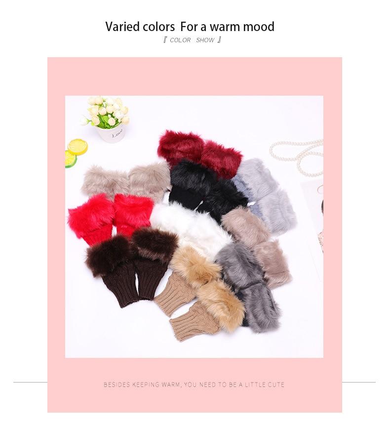 Winter Knitted Gloves New Wrist Trim Gloves 7