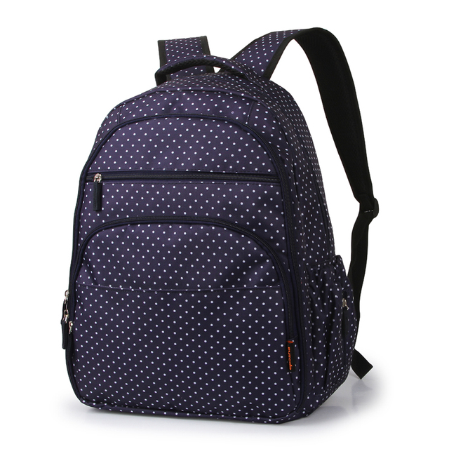 32*19*42cm Fashion Dot Baby Diaper Bag Backpack High-Capacity Mother Bag Baby Bags Multifunctional Insulation Bottle Nappy Bags