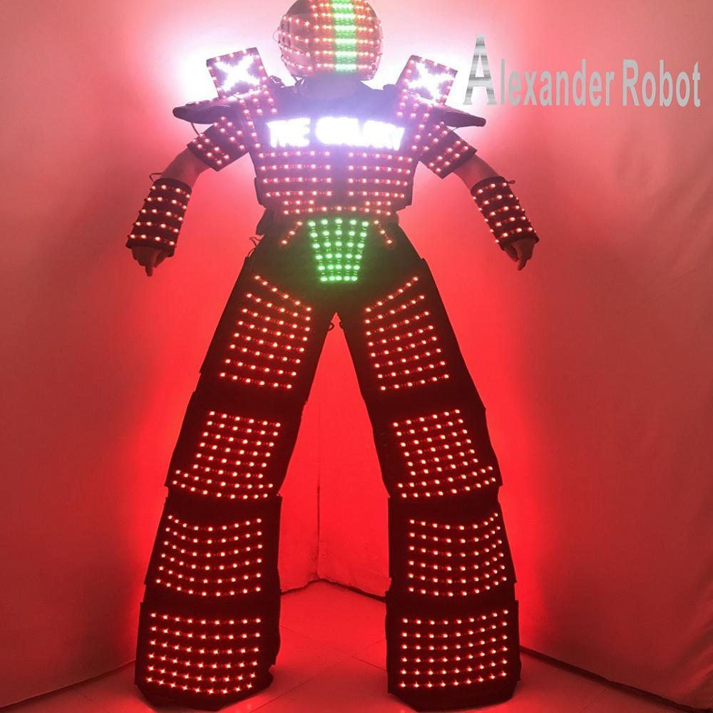 Conception de logo de Costume de LED/vêtements de LED/costumes de Costume légers/costumes de Robot de LED/robot d'alexandre