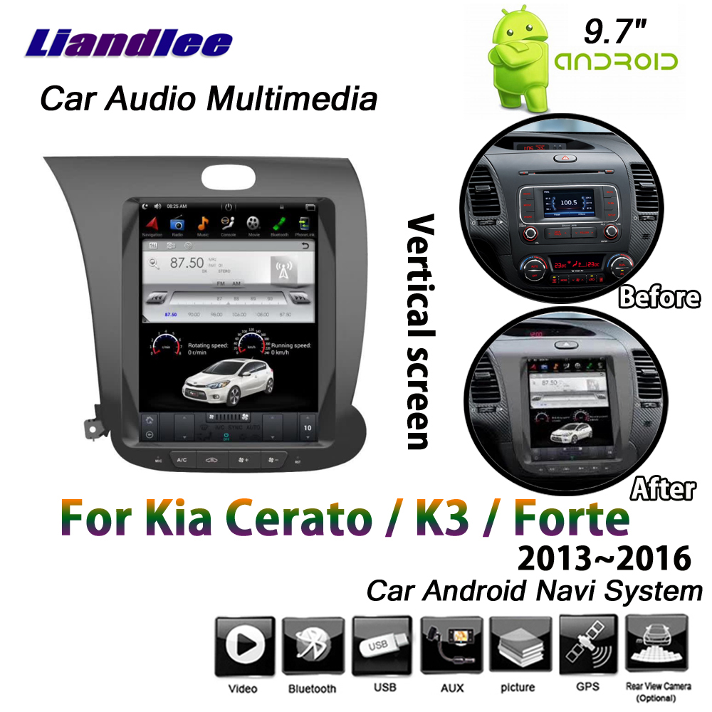Liandlee 9 7 Android System For Kia Cerato K3 Forte 2013 2016 Car Vertical Screen BT