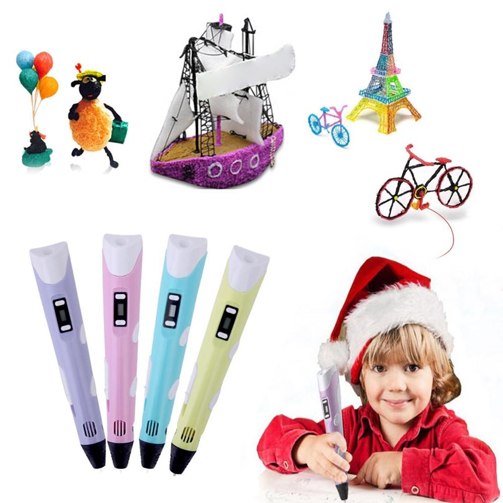 3d Pen Led Scherm Diy 3d Printing Pen Met Filament Creative Speelgoed Cadeau Voor Kinderen Ontwerp Tekening Kinderen Tekening Gereedschap