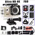 F60/F60R Ação câmera de Vídeo 4 K WiFi Remoto 2.0 LCD 170D lente Capacete Extrema Cam ir pro câmera à prova d' água 1080 P/60fps