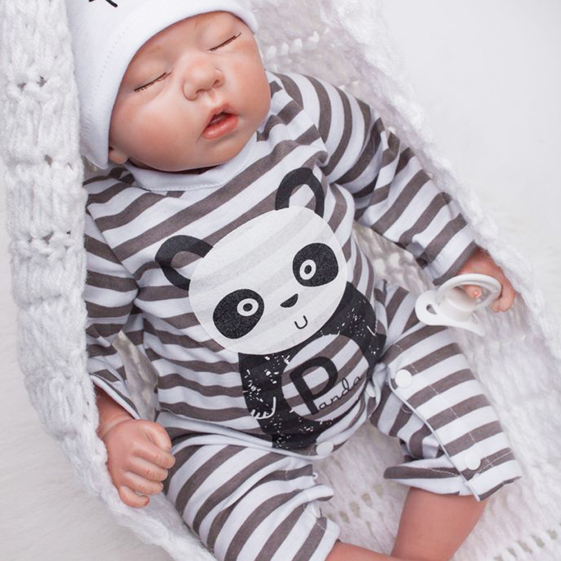 50cm Silicone reborn sleeping boy baby dolls toy lifelike 20inch vinyl newborn Babies doll bebe reborn girls birthday gift 50cm soft body silicone reborn baby doll toy lifelike baby reborn sleeping newborn boy doll kids birthday gift girl brinquedos