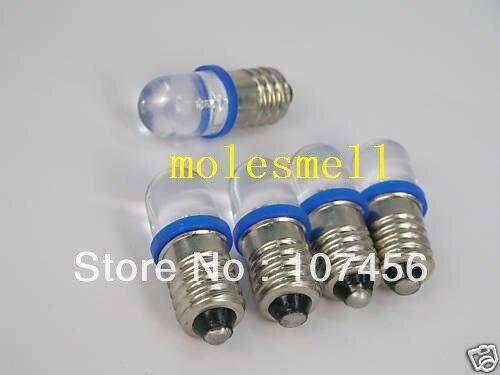 Free Shipping 50pcs Blue E10 12V Led Bulb Light Lamp For LIONEL 1447