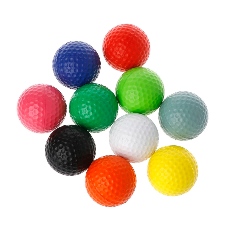 10pcs/lot Professional Practice Golf Balls Course Play Toy Indoor Outdoor Training Golf Accessories Random Delivery