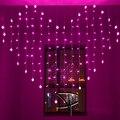 2x1.6 m en Forma de Corazón LED Luces De Navidad Luces de la Secuencia de 34 Corazones Multicolor Vacaciones Decoracao luces de Cortina de La Boda de LA UE EE. UU./REINO UNIDO/AU