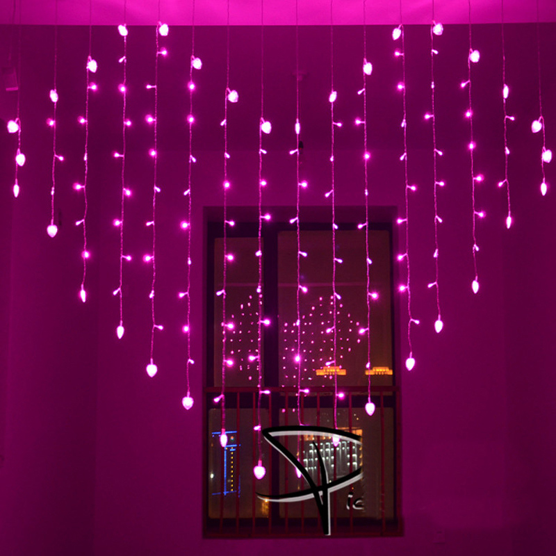 2x1.6m Heart Shape LED String Lights 34 Hearts Christmas Lights Multicolor Holiday Wedding Decoracao Curtain Lamps EU/US/UK/AU