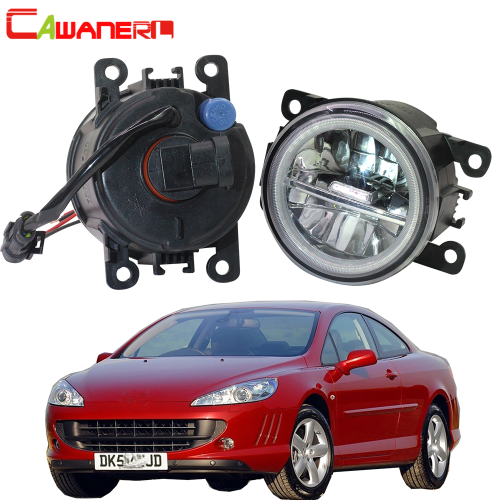 Cawanerl For Peugeot 407 Coupe 6C 2005 2011 Car Styling 4000LM LED Bulb H11 Fog Light