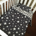 Cotton Baby Bedding Set  Star Star Pattern Custom  Without Stimulation Quilt Cover Cot Sheet pillow Cases  Baby Bed Three-piece