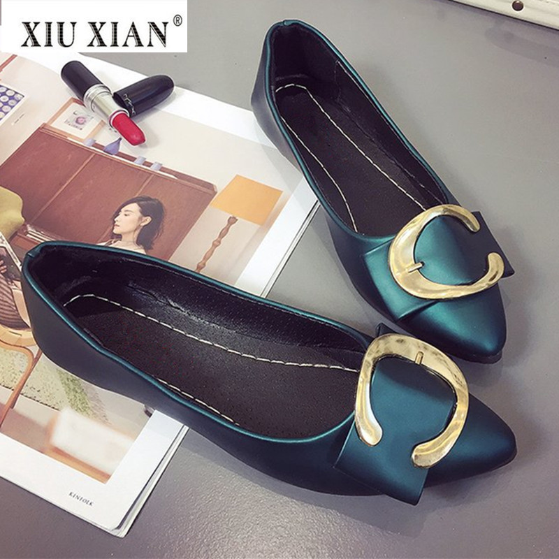 2018 Spring New Fashion Pointed Toe Women Flats PU Leather Shallow Slip on Comfortable Boat Shoe Hot Sale Sweet Lady Casual Flat hot sale 2016 new fashion spring women flats black shoes ladies pointed toe slip on flat women s shoes size 33 43