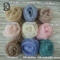 60x30 cm Crochê Real Pouco Mole Wraps Mohair Fotografia de Recém-nascidos Wraps Presente Do Chuveiro de Bebê Recém-nascido Foto Props
