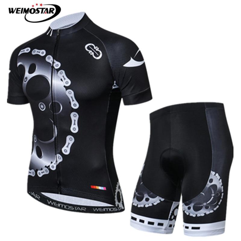 Weimostar marca Pro Ciclismo Jersey hombres bicicleta de montaña Ropa Maillot Ciclismo transpirables equipo bicicletas Ropa de Ciclismo