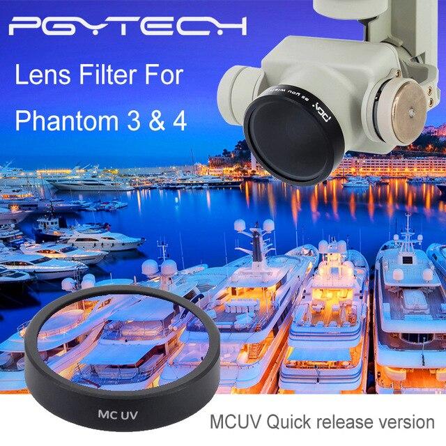 PGY Lens Filters MCUV for DJI phantom 4 phantom 3 Gimbal accessories Camera Ultraviolet Filter UAV Quadcopter drone parts