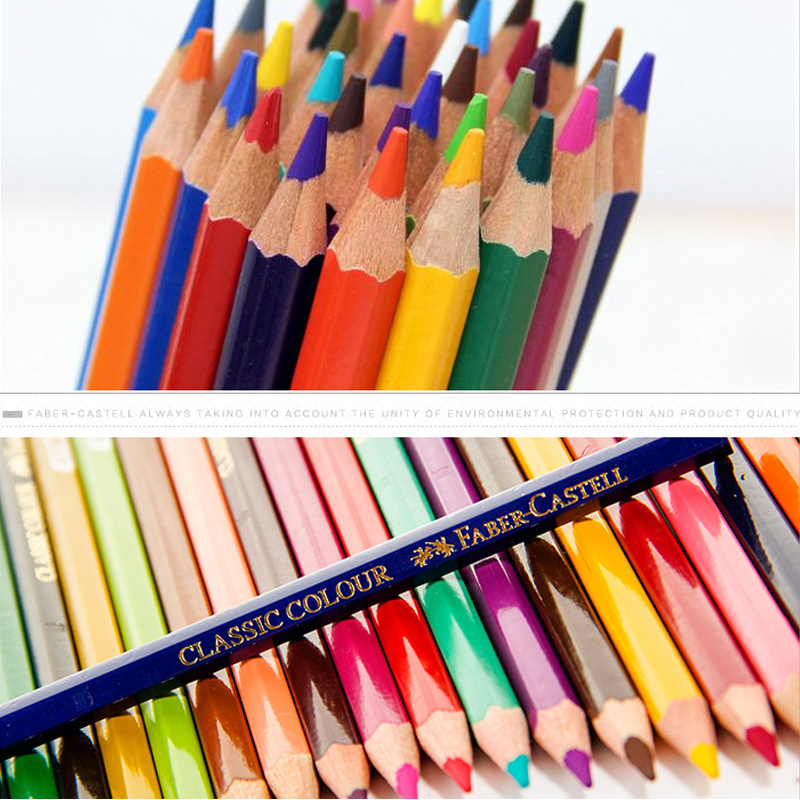 Image 2 - Faber Castell 36/48/72 Color Pencil for School Lapiz Oily Professional Sketch Pencils Rainbow Colors Lapis Escolar Stationery-in Standard Pencils from Office & School Supplies