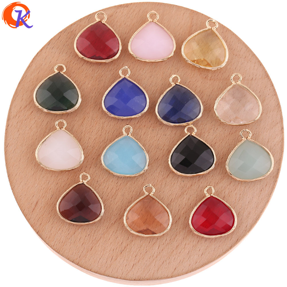 Cordial Design 50Pcs 17*18MM Jewelry Accessories/Charms Jewelry/Crystal Pendant/DIY Earring Making/Hand Made/Earring Findings