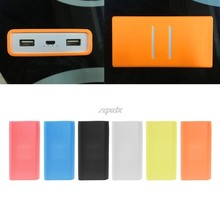 Funda de goma de silicona antideslizante para mi Power Bank 2 20000 mAh Protector Jy23 19 Dropship(China)