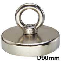1PCS Dia 90mm Magnet Neodymium Magnet Super Strong Round Magnet Rare Earth NdFeb Deep