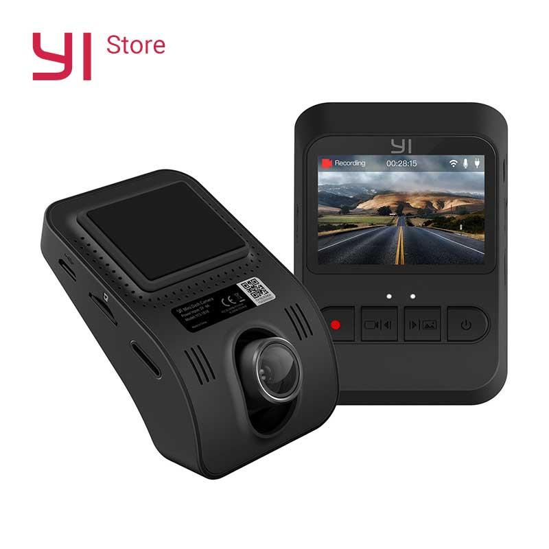 Yi mini câmera traço 1080p hd vídeo wifi embutido grande abertura versão internacional preto