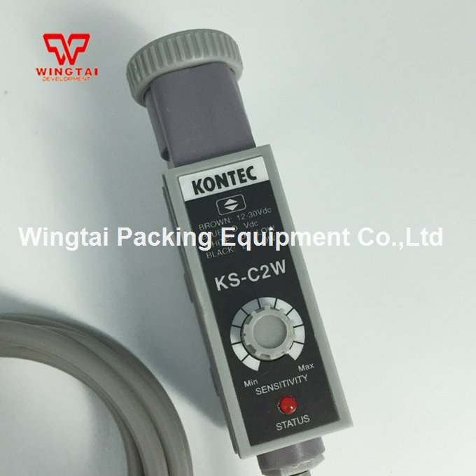 12-30VDC White light Taiwan Kontec PhotoElectric Sensor NPN KS-C2W taiwan kontec ks c2g photoelectricity eye sensor green light