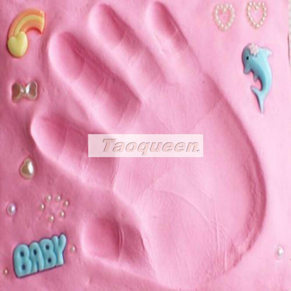 Taoqueen Baby Care Air Drying Soft เด็กทารกดิน Handprint รอยเท้าพิมพ์ชุดหล่อลายนิ้วมือมือเด็กแม่ของขวัญ