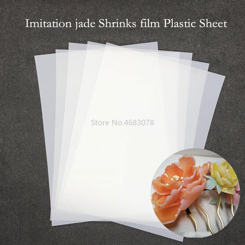 10 pcs imitacao jade encolhe filme folha de plastico 0 3mm espessura diy artesanato decorando filmes