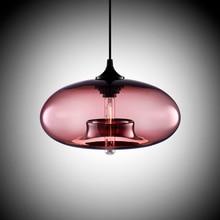 Новый Простой Современный висит 6 Цвет Стеклянного шарика Подвеска Лампа Светильники e27/e26 для Кухни Ресторан Кафе бар