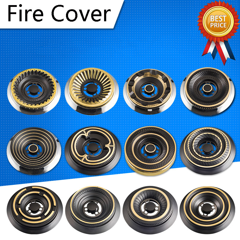 4Pcs Los Kitchen Goods Gas Cooker Fittings Fire Cover Pure Copper Fire Cover High Foot Burner Core Support Parts cooktop parts 2x2cm gas burner parts copper small fire cover