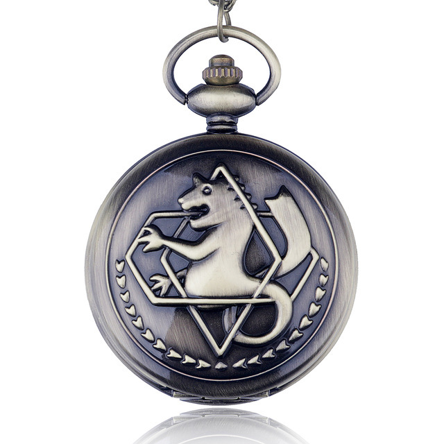 PB337 High Quality Full Metal Alchemist Edward Elric Cosplay Pocket watch Dull P