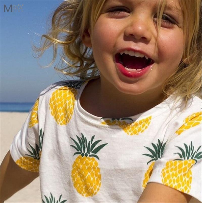 2017 Summer BOBO Choses BEBE camiseta para niños Ropa de piña Niños niñas camiseta Baby Tops Tiny Cotton Toddler Fashion T-shirts