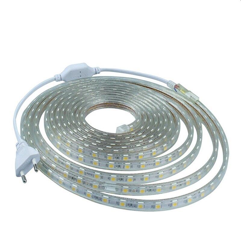 Outdoor 5050 Tape Light: AC220V Flexible LED Strip Light Waterproof 5050 SMD LED