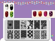 Lotus Design Image DIY Manicure Nail Art Stamp Template Image Plate Rctangular Stamping PLates Set Beauty Polish Tools