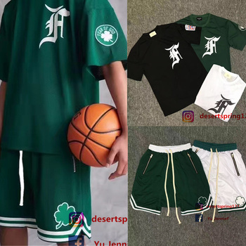 Fear Of God T shirt Man Women 1:1 High Quality 1987 Collection FOG fearofgod T-shirts Justin Biebe Mesh Tees Fear Of God T shirt hoodie