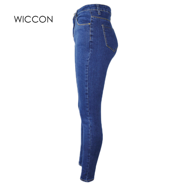 Slim Jeans For Women Skinny High Waist Jeans Woman Blue Denim Pencil Pants Stretch Waist Women Jeans Black Pants Calca Feminina 5