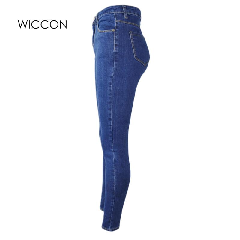 Slanke jeans voor vrouwen Skinny hoge taille jeans Vrouw blauwe denim - Dameskleding - Foto 6