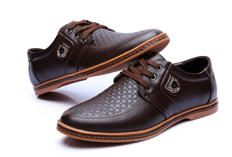 HTB1G9robwfH8KJjy1zcq6ATzpXau 2019 Men Leather Casual Shoes Men's Lace Up Footwear Business Adult Moccasins Male Shoes Chaussure Home