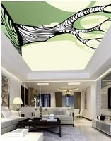 Tree Pattern Ceiling Ceiling Frescoes Custom Photo Wallpaper Large 3D Stereo Romantic Ceilings 3d Mural Paintings