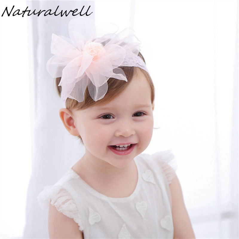 Naturalwell Children Girls lace Headbands Flower Hair Bands Kids bandage Newborn Headwear Lace Hair Accessories HB070 naturalwell flower headband bandage lace hairband girls hairpiece child hair accessory baby hairband newborn shower gift hb090
